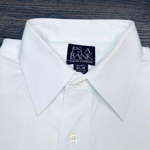 Jos. A. Bank Shirts - Jos A Bank White Tailored Fit Dress Shirt 16.5-35